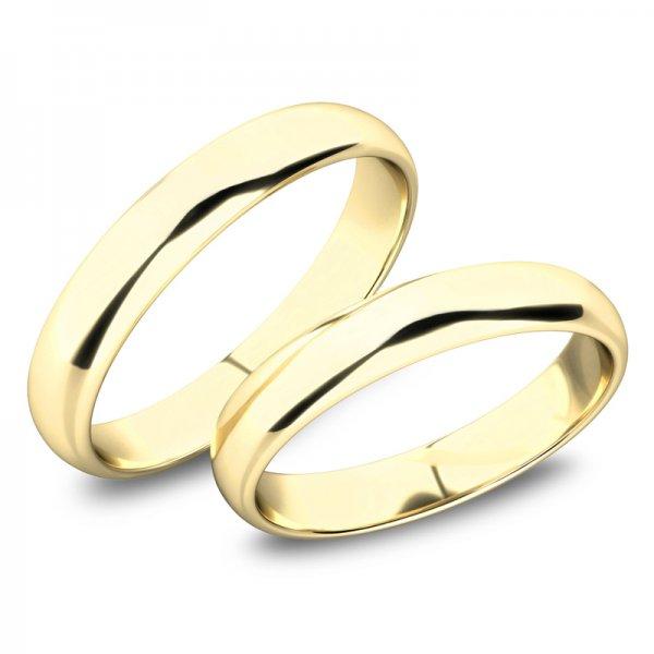 Snubní prsteny ze žlutého zlata SP-61100-02-Z