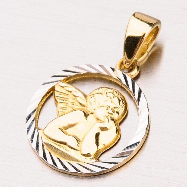 Zlatý přívěsek andílek 13-260