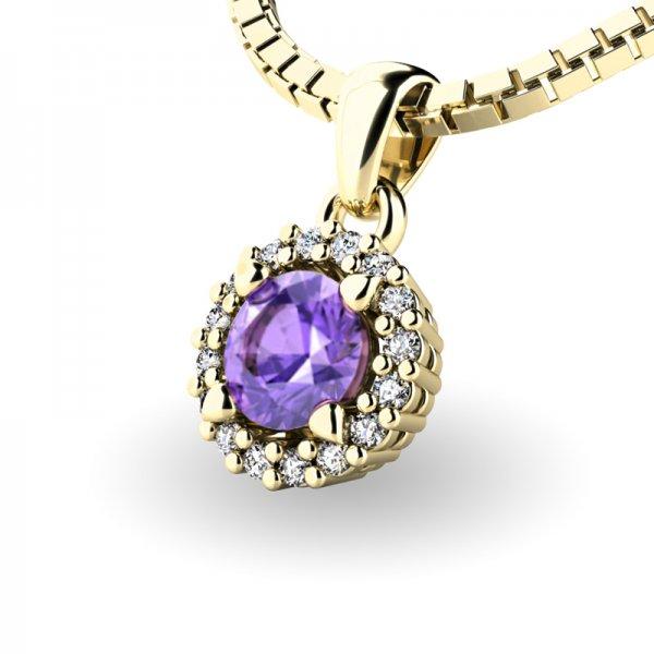 Luxusní přívěsek s tanzanitem a diamanty 10927-ZL-TAN