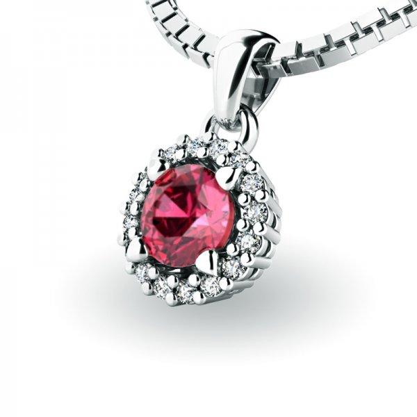 Luxusní přívěsek s turmalínem a diamanty 10927-B-TUR