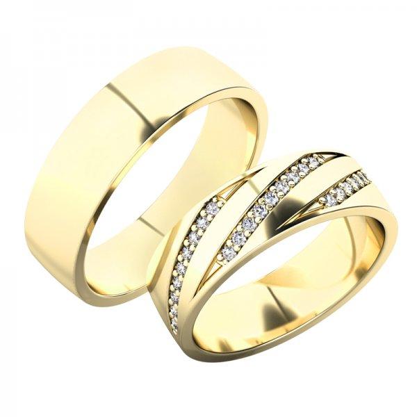 Snubní prsteny ze žlutého zlata SP-61078Z