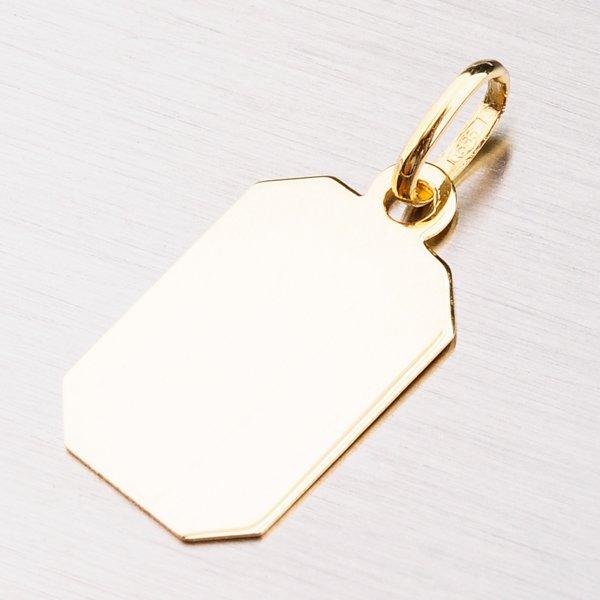 Destička ze žlutého zlata 13-289
