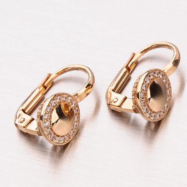 Náušnice z růžového zlata 12-401