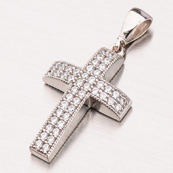 Zlatý kříž se zirkony 13-263
