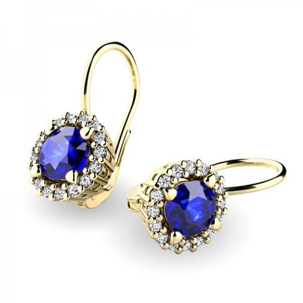Luxusní náušnice s diamanty 10925-ZL-SAF