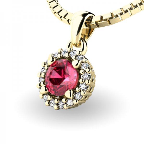 Luxusní přívěsek s turmalínem a diamanty 10927-ZL-TUR
