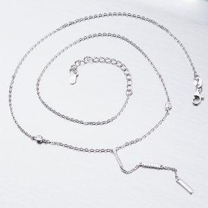 Stříbrný náhrdelník se zirkony SST-15988