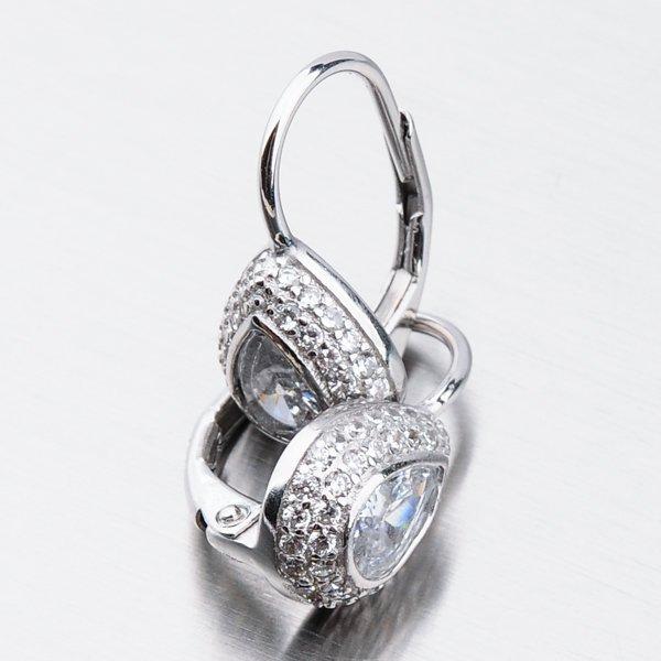 Stříbrné náušnice SETST-12173N