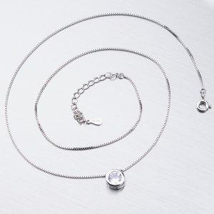 Stříbrný náhrdelník se zirkonem SST-15865