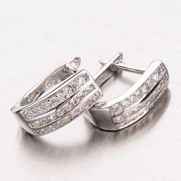 Náušnice ze stříbra se zirkony EZX01130153