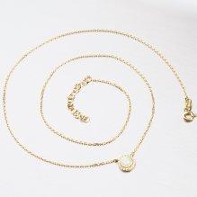 Zlatý náhrdelník s opálem 45-1826