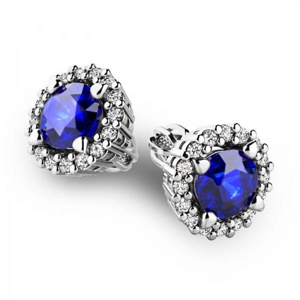 Luxusní náušnice s diamanty 10926-B-SAF