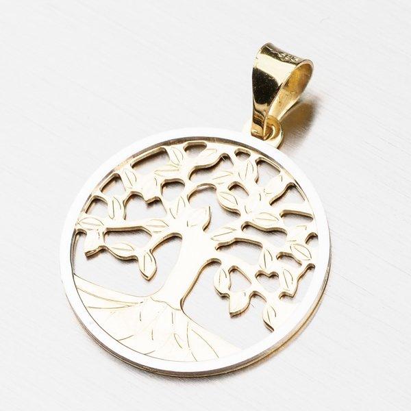 Zlatý přívěsek se stromem života 13-288