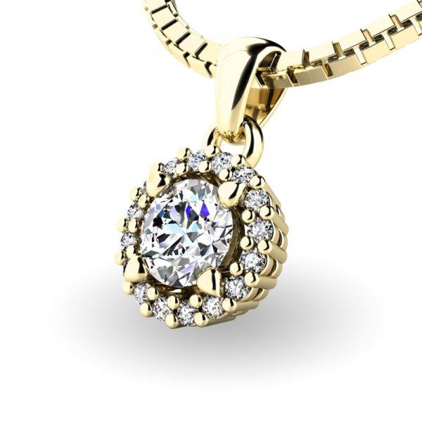 Luxusní přívěsek s diamanty 10927-ZL-DIA