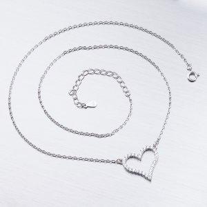 Stříbrný náhrdelník se zirkony SST-15878