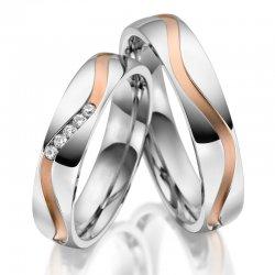 Stříbrné snubní prsteny SP-SI-028
