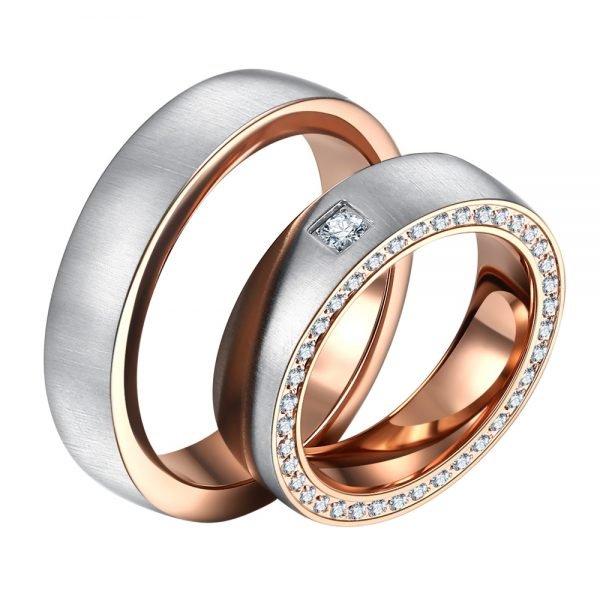 Ocelové snubní prsteny ST-88089