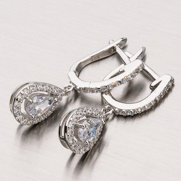 Stříbrné visací náušnice EXX07170535