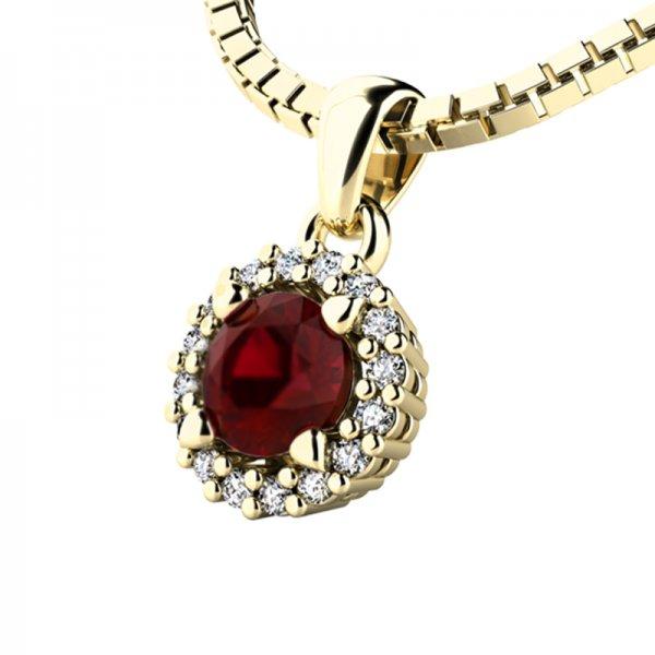 Luxusní přívěsek s diamanty 10927-ZL-GRA