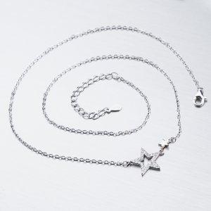 Stříbrný náhrdelník se zirkony SST-15888