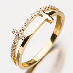 Zlatý dámský prsten 11-216