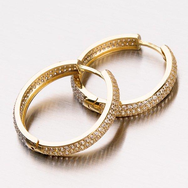 Zlaté kruhy se zirkony 12-429