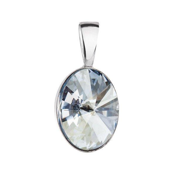 Stříbrný přívěsek s krystalem Swarovski modrý ovál 34245.5 34245.5