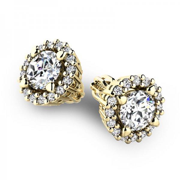 Luxusní náušnice s diamanty 10926-ZL-DIA