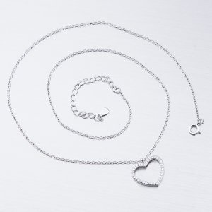 Stříbrný náhrdelník se zirkony SST-15886