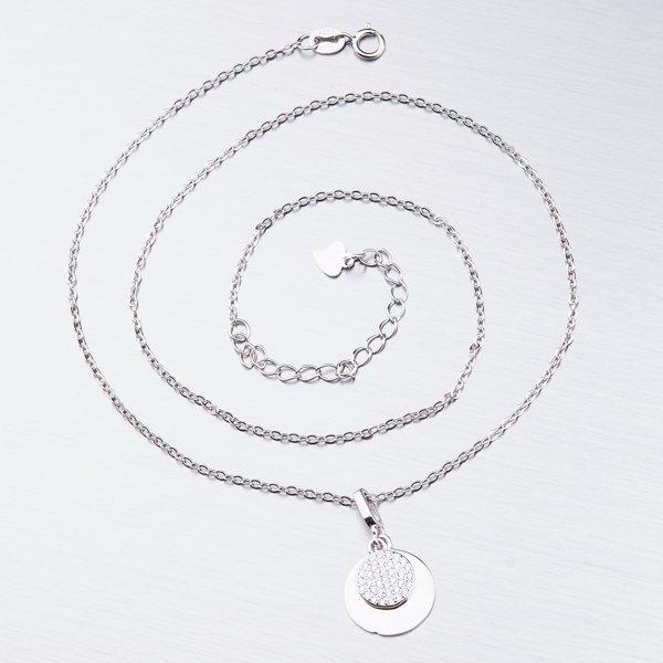 Stříbrný náhrdelník se zirkony SST-151015