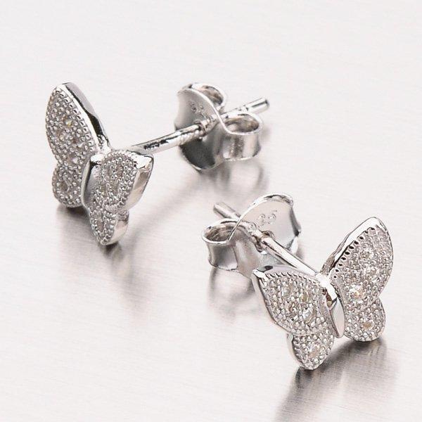 Náušnice ze stříbra EXX14130013
