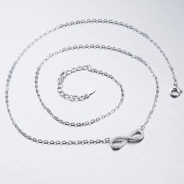 Stříbrný náhrdelník nekonečno SST-15880
