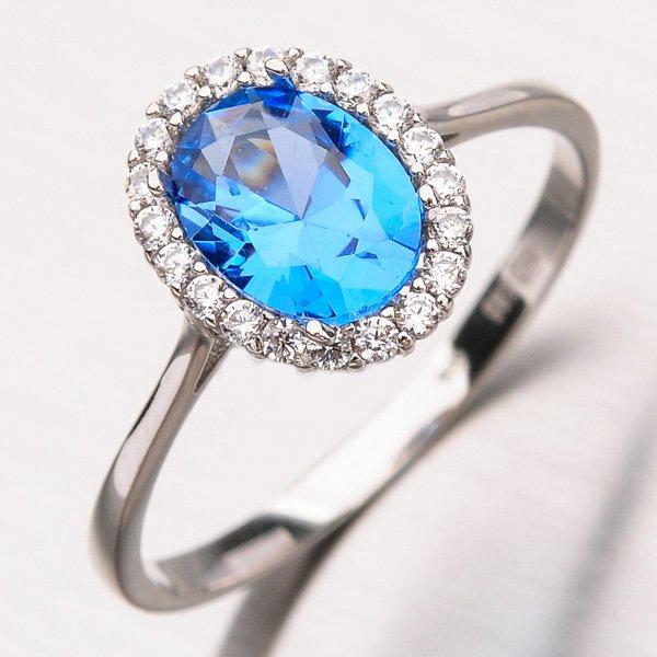Prsten z bílého zlata 11-193