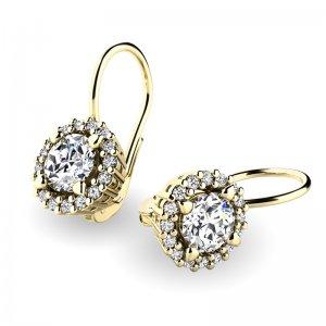 Luxusní náušnice s diamanty 10925-ZL-DIA