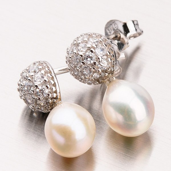 Náušnice s perlou EXX07140115