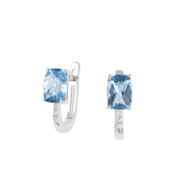 Náušnice s diamanty a topazem GKW48535TPZ