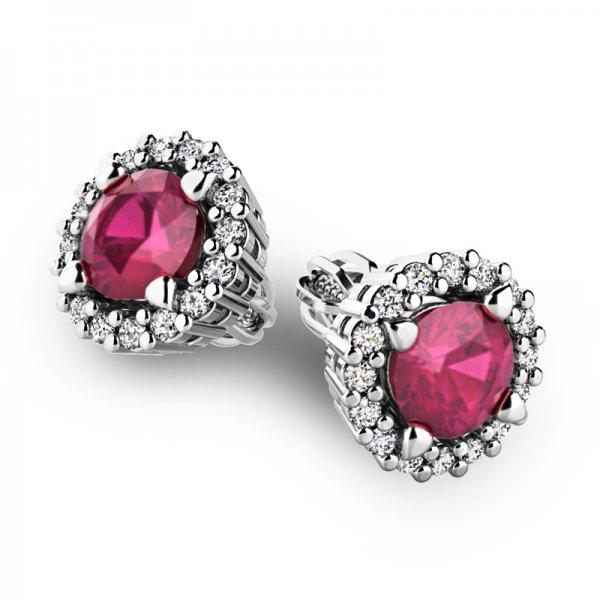 Luxusní náušnice s diamanty 10926-B-RUB