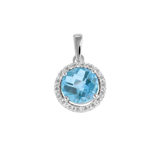 Luxusní přívěsek s topazem a diamanty GKW47233TPZ