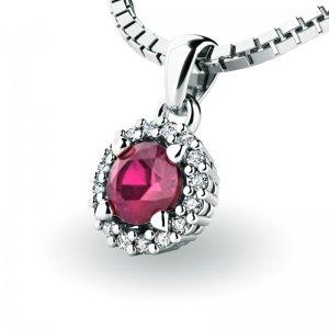 Luxusní přívěsek s rubínem a diamanty 10927-B-RUB