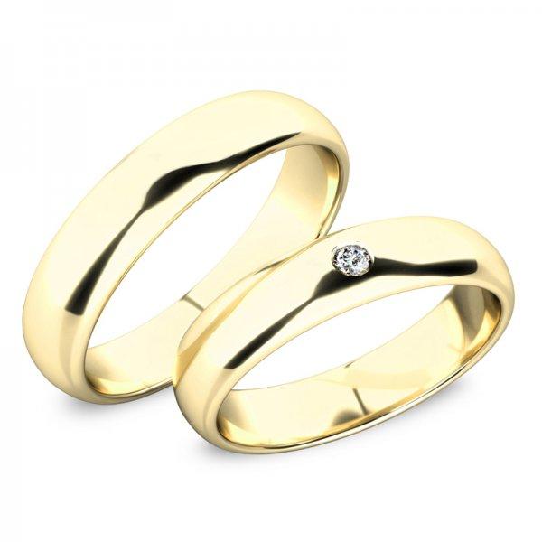 Snubní prsteny ze žlutého zlata se zirkonem SP-61100-03-01-Z