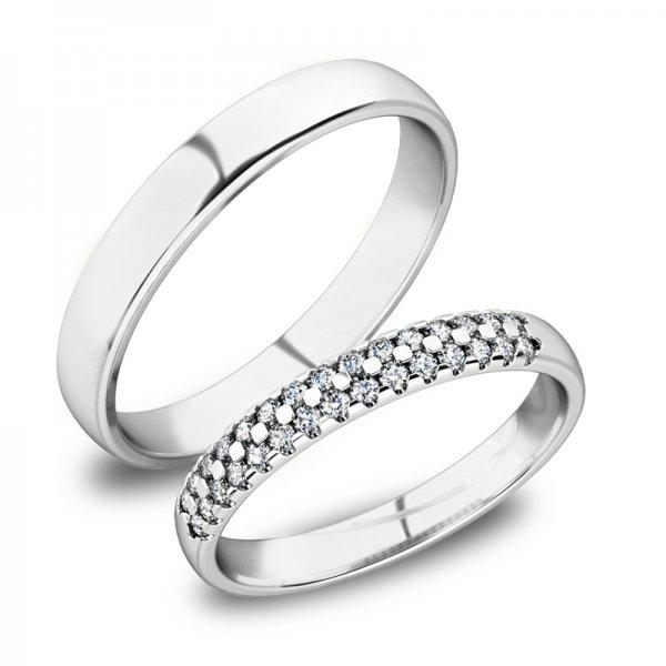 Zlaté snubní prsteny SP-61087B