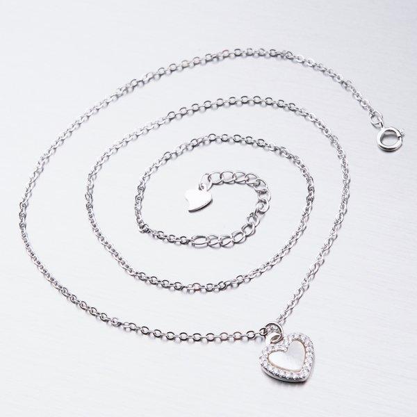 Stříbrný náhrdelník se zirkony SST-151106