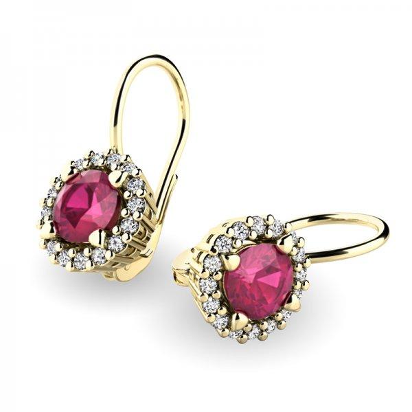 Luxusní náušnice s diamanty 10925-ZL-RUB