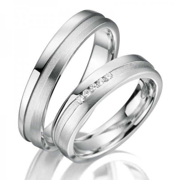 Stříbrné snubní prsteny SP-SI-015