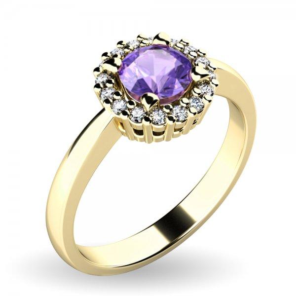 Dámský prsten s tanzanitem a brilianty 10924-ZL-TZN