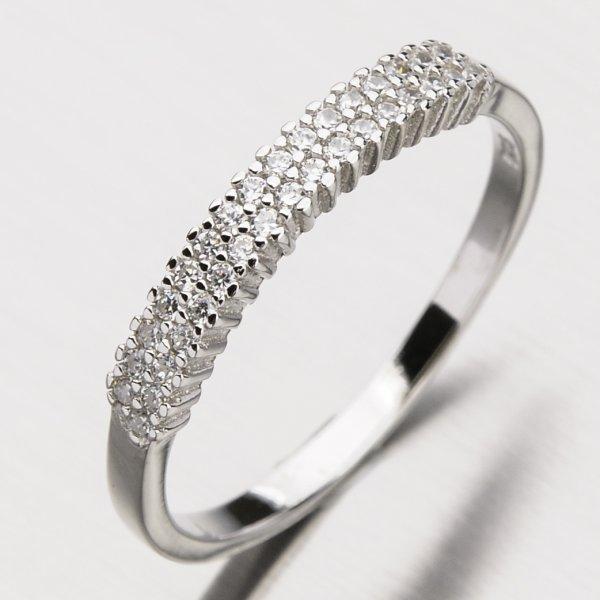 Stříbrný prsten se zirkony RXX04170290