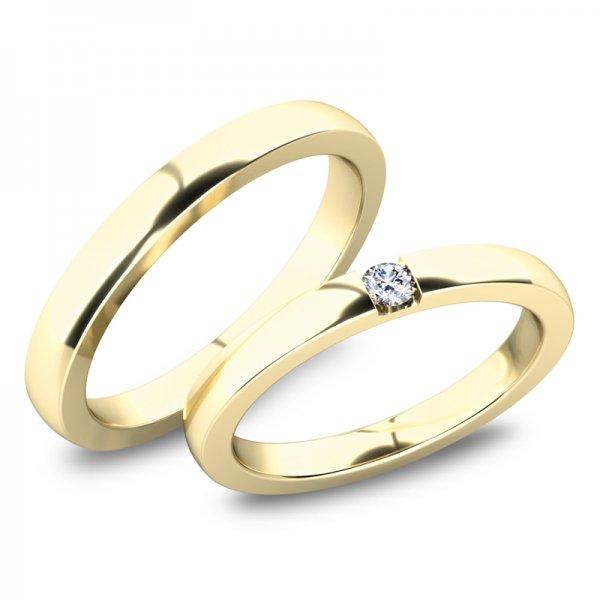 Moderní snubní prsteny ze žlutého zlata SP-61083Z