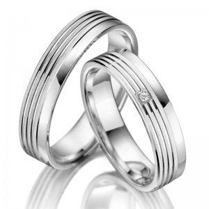 Stříbrné snubní prsteny SP-SI-003