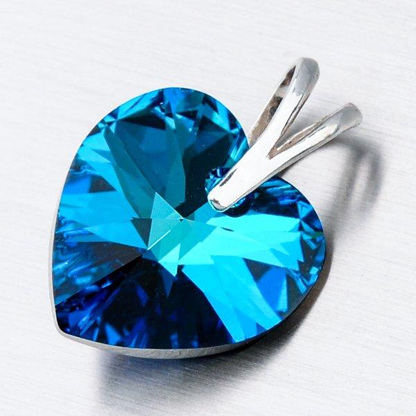 Stříbrný přívěsek srdce z krystalu D108-JK