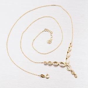 Zlatý náhrdelník se zirkony 15-008